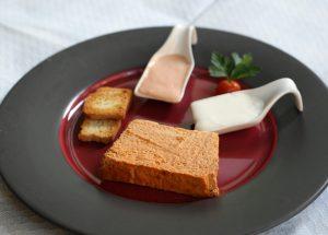 para yantar restaurante sidreria el globo plato de pastel de oricio gijon 03 01 11 foto piña